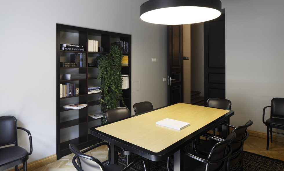 The business centre features a conference table and good lighting